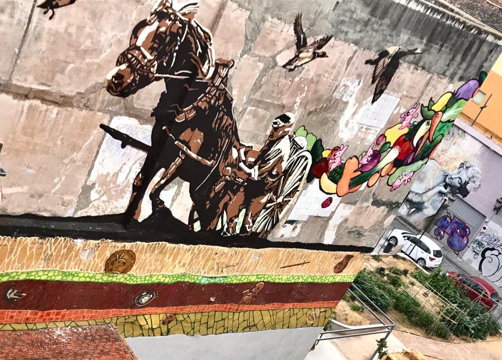 Grafiti cavallo de l'hort de la botja